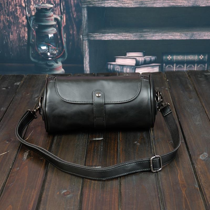 Fashion Retro Personality Design Cylinder Bag