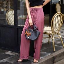 2020 модные широкие брюки женские Летние Осенние повседневные