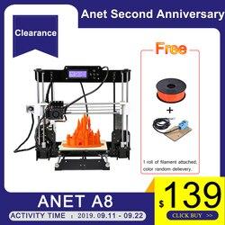 Anet A8 Auto level & Normalen 3D Drucker 0,4mm Düse i3 Aluminium Legierung Brutstätte Pritner DIY Kit Filament 8G SD Karte