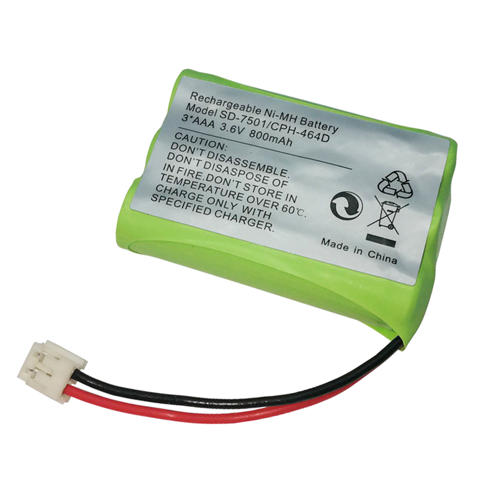 3.6V 800mAh <font><b>Ni</b></font>-<font><b>MH</b></font> Battery for SD-7501 <font><b>V</b></font>-Tech 89-1323-00-00 AT & T Lucent 27910 CPH-464D 3*AAA 3.6V Replacement BATTERY image