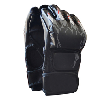 Adult MMA Boxing Sandbag Fight Combat Training Faux Leather Half Finger Gloves Tools for Muay Thai Karate Muay Free Fight Sanda 5