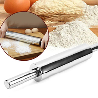 Stainless Steel Rolling Pin Non stick Pastry Dough Roller Bake Pizza Noodles Cookie Pie Making Baking Tools Kitchen Accessories|Rolling Pins & Pastry Boards|Home & Garden -