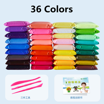 36 Цвета шпатлевка супер светильник слизи моделирование из пластилина глины полимерной DIY детские игрушки для Детский подарок Fimo игровое тесто ломтики|Пластилины и пасты|   | АлиЭкспресс