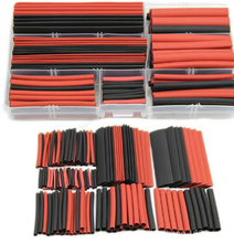 150 шт. черно-красная 2:1 ассортимент термоусадочные трубки Автомобильный Кабель прокладочный Обёрточная бумага провода комплект