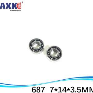 Plastic Nylon POM Ball Bearings Bearing 7*14*3.5 687 4 PCS 7x14x3.5 mm