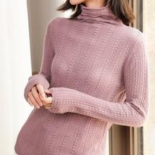 100% cachemire tricoté chandails femmes Top qualité col roulé 4 couleurs dames pulls hiver nouveau mode Standard vêtements
