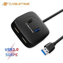 Usb c концентратор cabletime на usb 30 4 в 1 адаптер 5 Гбит/с