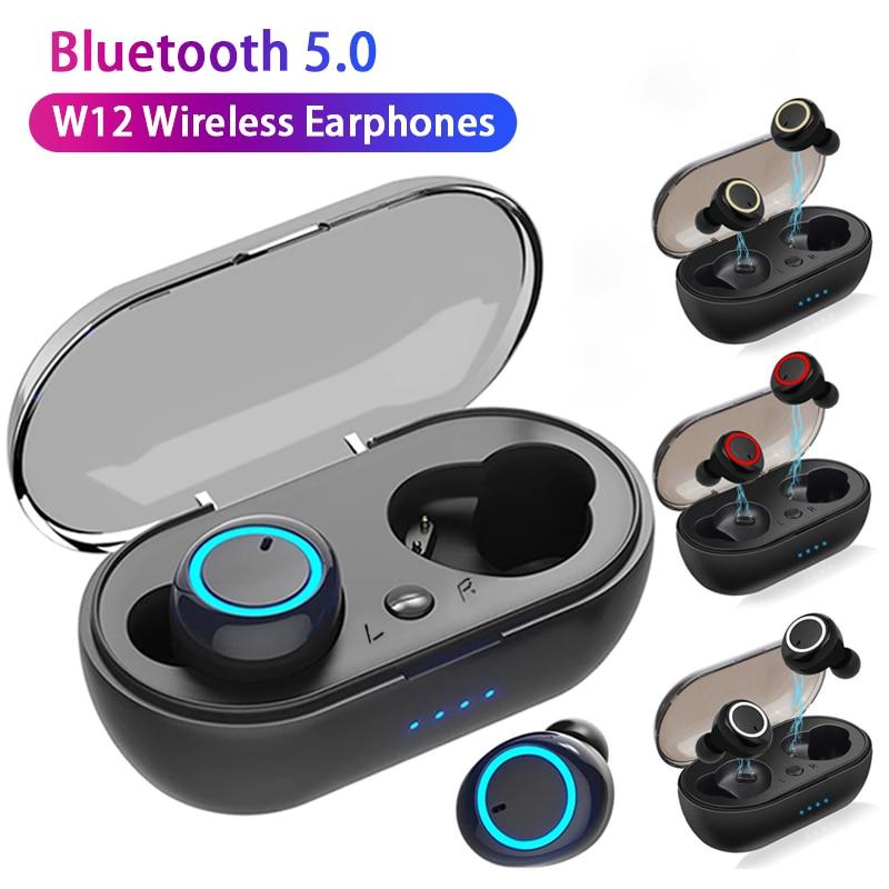 Беспроводные наушники TWS W12, музыкальная гарнитура, спортивные наушники, водонепроницаемые наушники для OPPO, Huawei, Iphone, Xiaomi, Bluetooth наушники