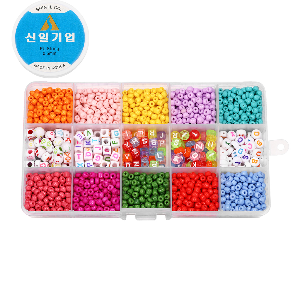 2020pcs Mix color Letter Beads Jewelry Making Supplies Kit Beads Wire for Bracelet DIY Earrings Making Kit Jewelry Finding 5