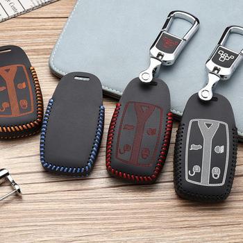 Funda de llave de coche de cuero de capa superior 2009-2020 OEM para Landrover freelander 2 accesorios de coche