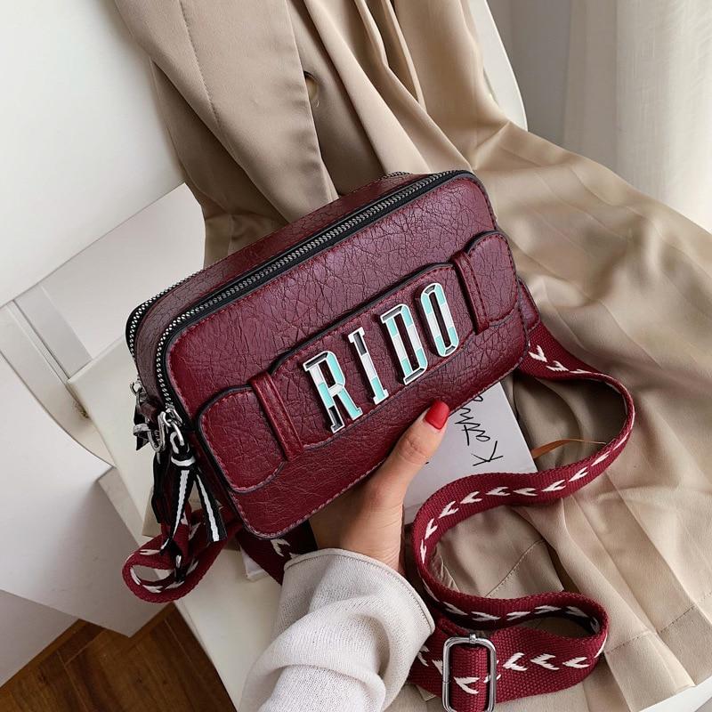 Joker Handbag New Women Bag Women Fashion Small Square Pack High Quality Double Zippers Shoulder Bags Crossbody Bags Bolsas