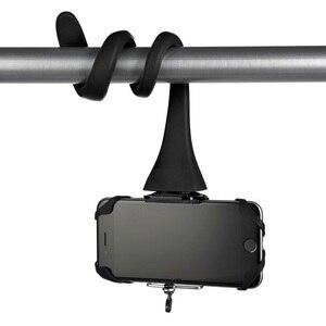 Image 2 - Mini Camera Tripod Mount Banana Pod for Gopro Xiao Mi Yi SJ4000 action camera for iphone7 6s car headrest selfie stick