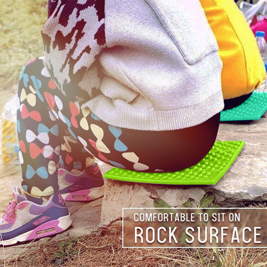 1x Foldable Camping Foam Seat Cushion Sitting Mat Outdoor Hiking Picnic Pad JE