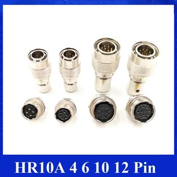 Conector Hirose HR 10A 4 6 10 12 Pin conector macho hembra enchufe eléctrico Hirose HR10A usado en carema industrial