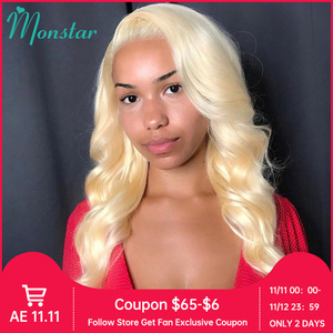 Image 1 - 4x4 Closure Wig 13x4 13x6 613 Honey Blonde Brazilian Wig Remy Hair Body Wave Wig Glueless Lace Front Human Hair Wigs for Women