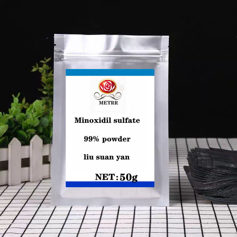 High Quality Sulphate Powder 99% Pure Food Grade Minoxidil Powder Reduces Hair Loss And Promotes Hair Regeneration, Free Shippin