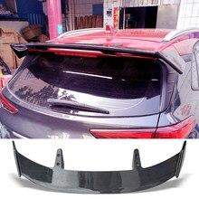 Тип спойлера ДЛЯ багажника TE, карбоновая поверхность, крыло для заднего багажника, ABS-материал, аксессуары для ремонта, спойлер для Hyundai Kona 2017...