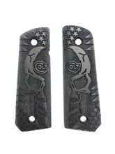 Colt 1911 corte a laser preto aperto de madeira mod3