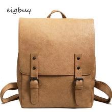 купить Teenagers Girls Leisure Backpacks Female Travel Rucksack Large Capacity Women Backpack Vintage Pu Leather School Bags For по цене 1205.58 рублей
