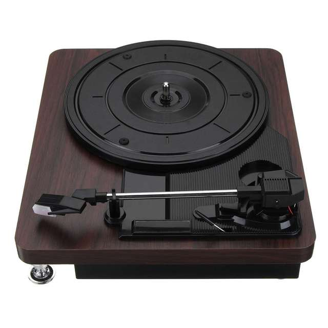 Retro Record Player 33RPM Turntable Vinyl Audio RCA R/L 3.5mm Output 4