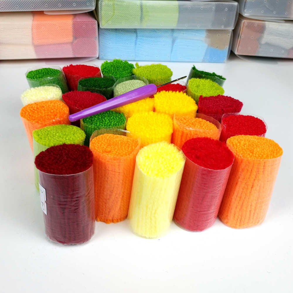 Trava gancho almofada kits lua coruja travesseiro caso de fio acrílico travesseiro pré-impresso cor lona crochê capa de almofada hobby & artesanato