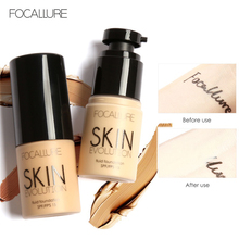 FOCALLURE Base Face Liquid Foundation Cream Full Coverage Concealer Oil-control Easy to Wear Soft Face Makeup Foundation imagic base face liquid foundation cream full coverage concealer oil control easy to wear soft face makeup foundation with puff