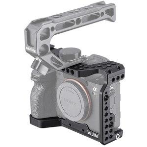 Image 2 - VIJIM CA 02 アルミ合金カメラケージソニー A7R4 ソニー A7R iv コールドシューマウント Arri ポジショニング穴 1/4 3/8 スレッド