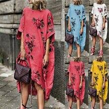 ULarge Size Women Sleeveless Boho Cotton Casual Linen Kaftan Maxi Dress Ladies Long Dresses Plus Szie
