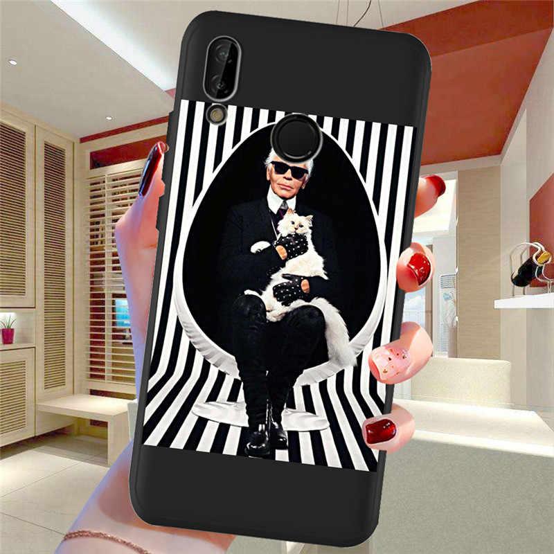 Karl Lagerfeld For Huawei P8 P10 P20 P30 Mate 10 20 Honor 8 8X 8C 9 V20 20i 10 Lite Plus Pro Case Cover Coque Etui capa funda