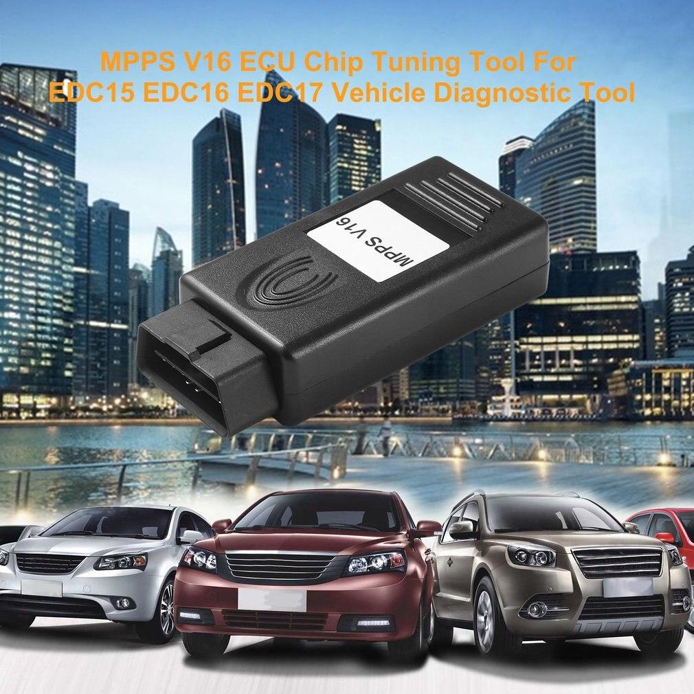 MPPS V16 ECU чип тюнинговый инструмент для EDC15 EDC16 EDC17 контрольная сумма SMPS MPPS 16 может мигалкой перекарта кабеля автомобиля диагностический инстр...
