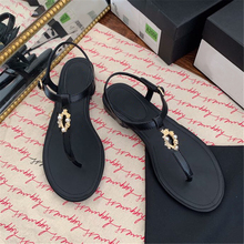 Designer Shoes Sandals Comfortable Genuine-Leather Summer Luxury Brand Hot-Sell Size-35-41