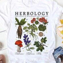 A escola de bruxaria e bruxaria design novidade camisas de algodão herbologia plantas t camisa