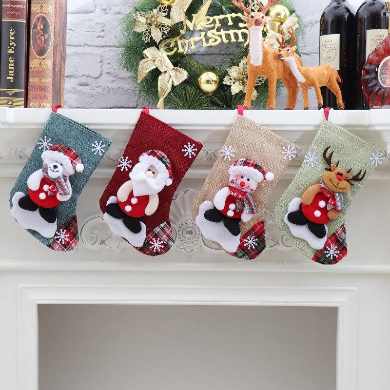 Новогодняя Коллекция 2020 года; рождественские подарочные носки с изображением конфет; рождественские носки с изображением Санта-Клауса и
