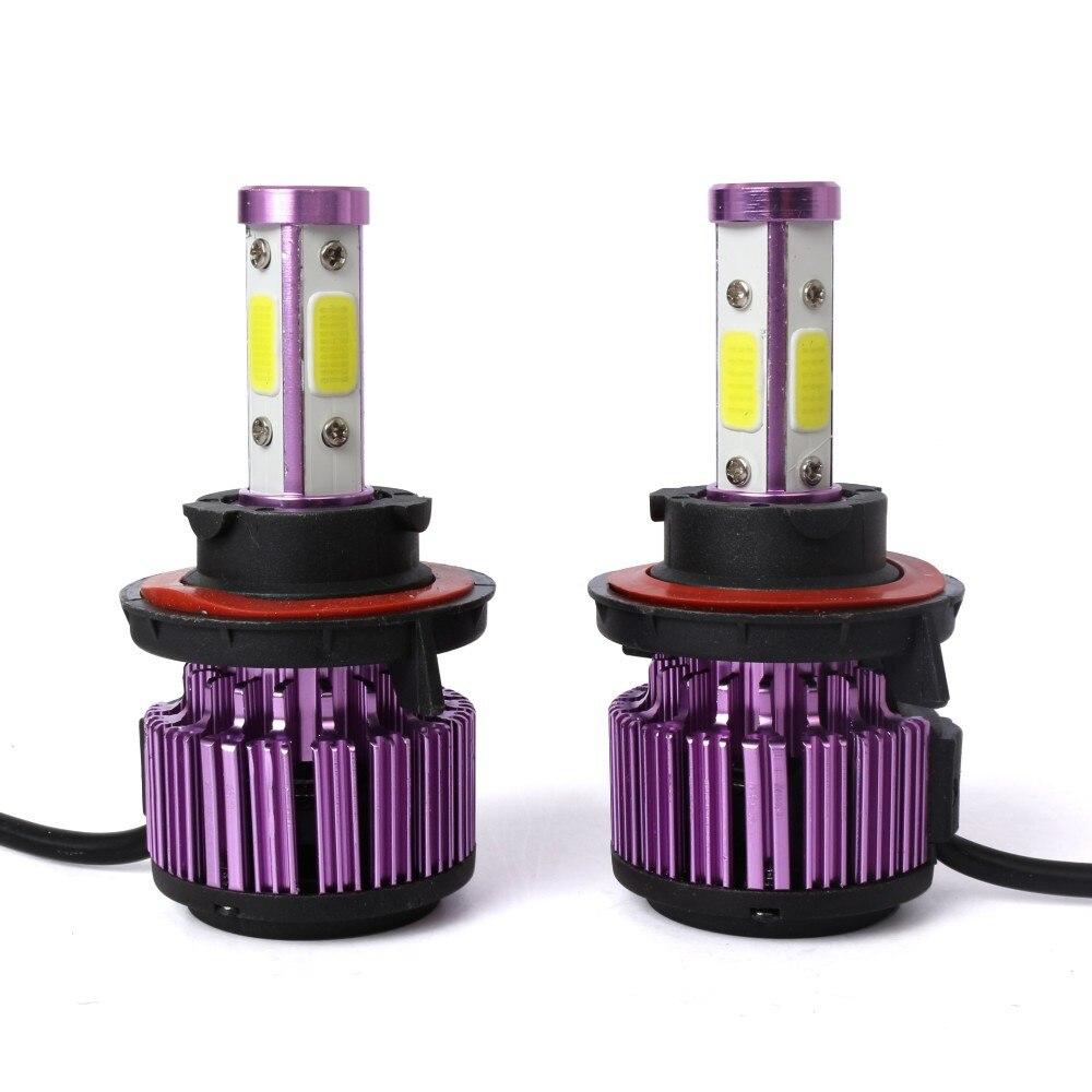 Светодиодный светильник на голову, лампы, противотуманный светильник s 20000LM 200 Вт 6000 К, холодный белый/ближний свет/противотуманный светильник, 4 боковых чипа COB, автомобильные аксессуары# Ger