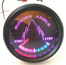 1pc New Style 52mm Rudder Angle Meters 9-32vdc Marine Rudder Angle Gauges with 8 Kinds Backlight Color for Boat Vessel Yacht 1pc new type 0 8000rpm tachometer gauges modification 85mm lcd revolution meters 9 32v rev counters with hourmeter for auto boat