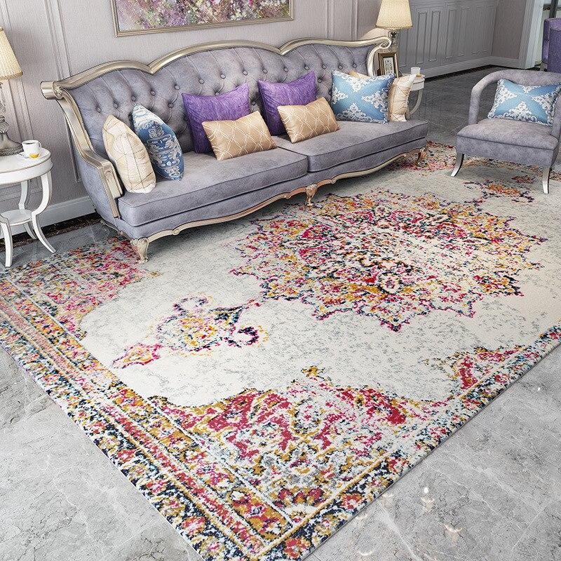 Bohemian American Retro Carpets Living Room Morocco Style Carpet Bedroom Home Sofa Persian Rug Mat Floor Rugs And Carpets