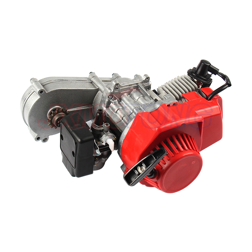 49cc 2-Hub Pull Starten Motor Motor mit Übertragung Für Mini Pocket Bike ATV