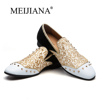 MEIJIANA Loafers Men Leather Tassel Loafers Pointed Toe British Style Vintage Carving Wingtips Brogues Shoes Slip On Men Flats