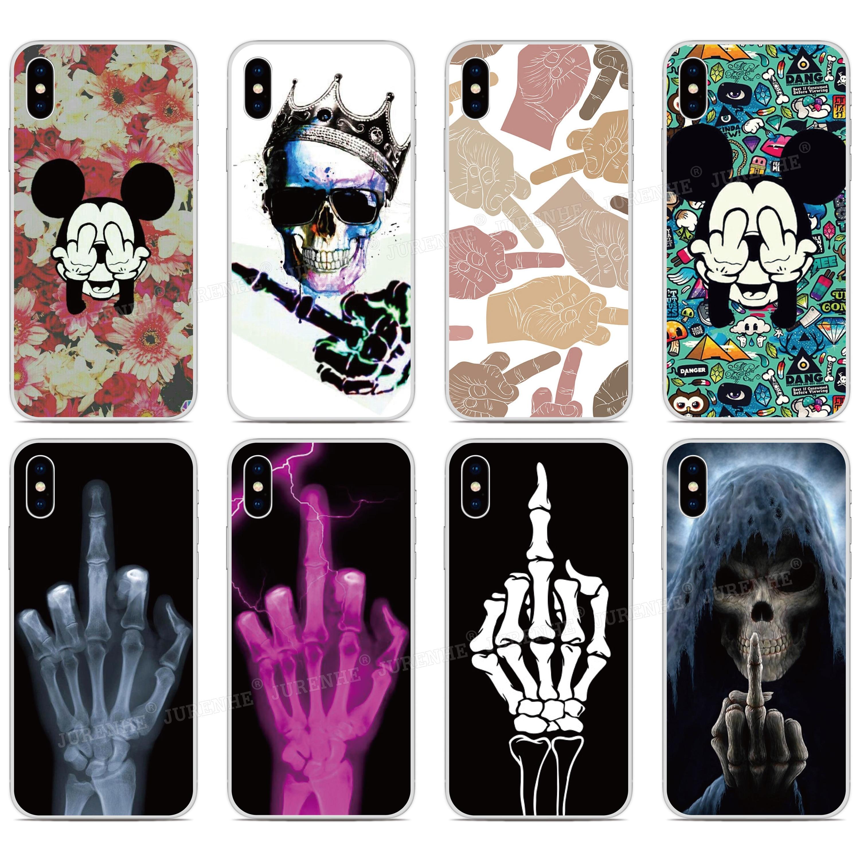 Middle Finger Bumper Phone Case For BlackBerry-Priv KEYone KEY 2 Motion Passport Q30 Z10 Z30 Q10 DTEK50 DTEK60 DTEK70 Cover Capa(China)
