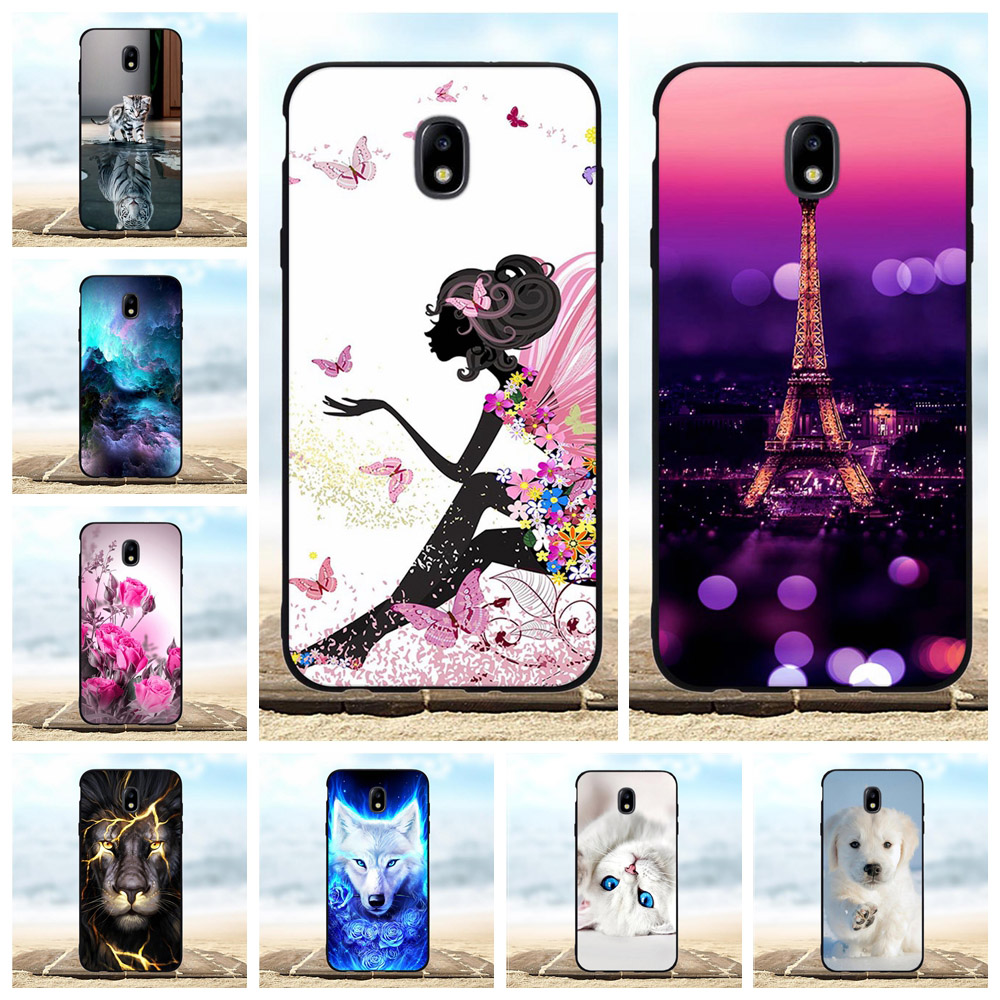 For Samsung Galaxy J7 2018 Case Soft TPU Star Cover Dog Patterned V 2nd Shell