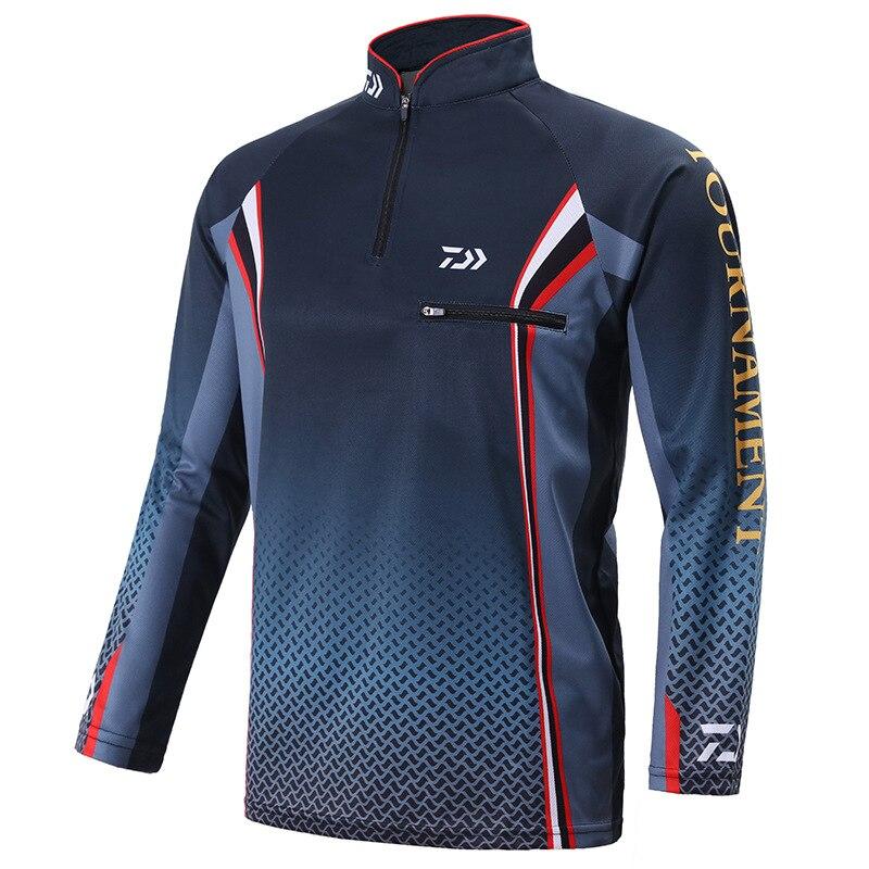 New Outdoor Sportswear Fishing Shirt Anti-UV Hiking Fishing Vest Quick Dry Breathable DAIWA Fishing Clothes Sport Jacket