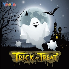 Yeele Halloween Backdrop Castle Bat Zombie Branch Trick Or Treat Customized Vinyl Photography Background For Photo Studio