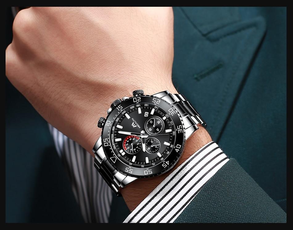 Hf5fb7d5398b5458ab4bbfaef2df96f33n MEGALITH Watches Mens Waterproof Analogue Clock Fashion Stainless Steel Waterproof Luminous Watch Men Sports Relogio Masculino