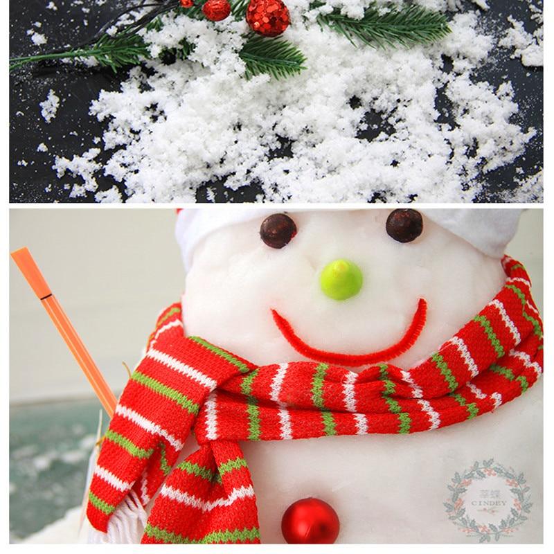 1KG neige artificielle poudre de neige instantanée flocon de neige moelleux Super Absorbant fête congelée accessoire magique décoration de fête de noël