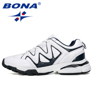 Image 4 - BONA 2019 New Designers Leather Running Shoes Men Outdoor Sneaker Shoes Casual Breathable Shoes Jogging Tennis Shoes Man Trendy