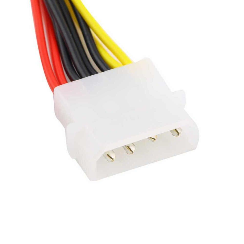 Nowy 4 Pin ide molex do 2 z 15 Pin Serial ATA dysk twardy sata kabel zasilający nowy Y Splitter podwójny kabel dysku twardego
