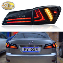 4PCS Car Styling for Lexus IS250 Taillights 2006-2012 for IS300 LED Tail Lamp+Turn Signal+Brake+Reverse LED light free shipping for car tail lamp for lexus for is 250 for is350 for is300 led taillights year 2006 2007 drl brake rearlamp