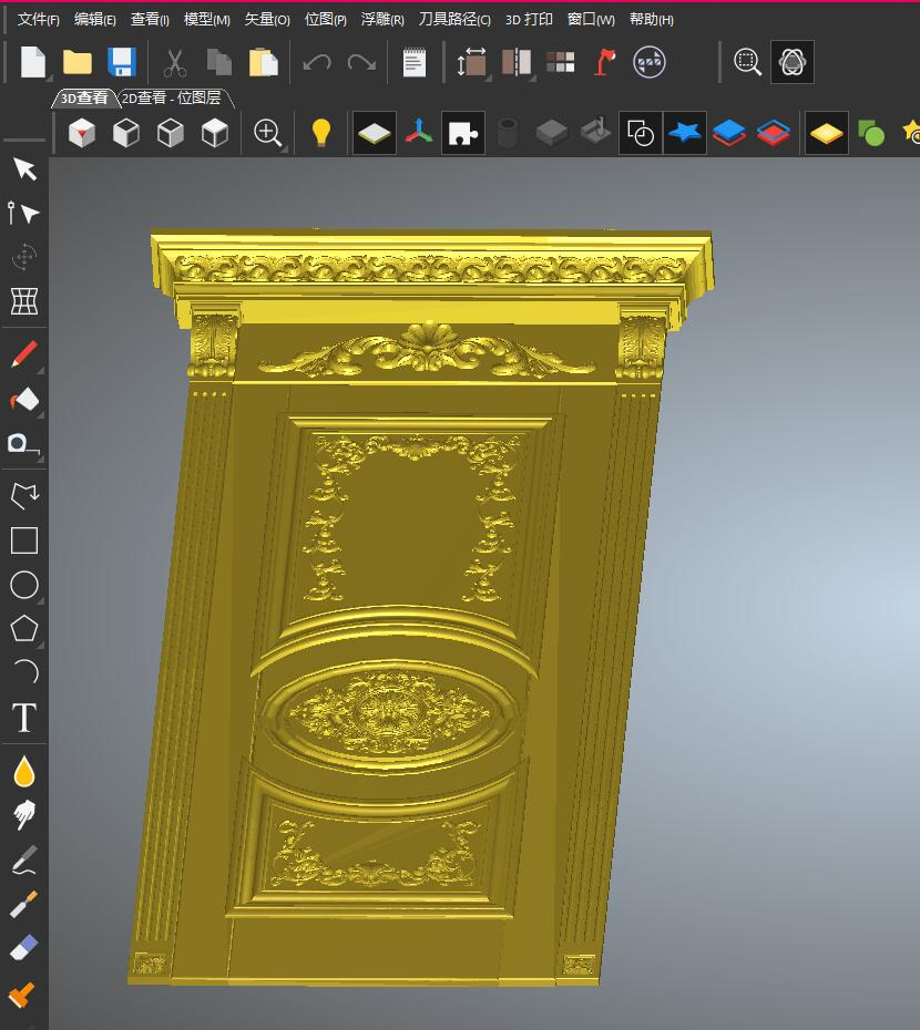 3D Model STL Relief For Cnc STL Format Furniture--Door_2