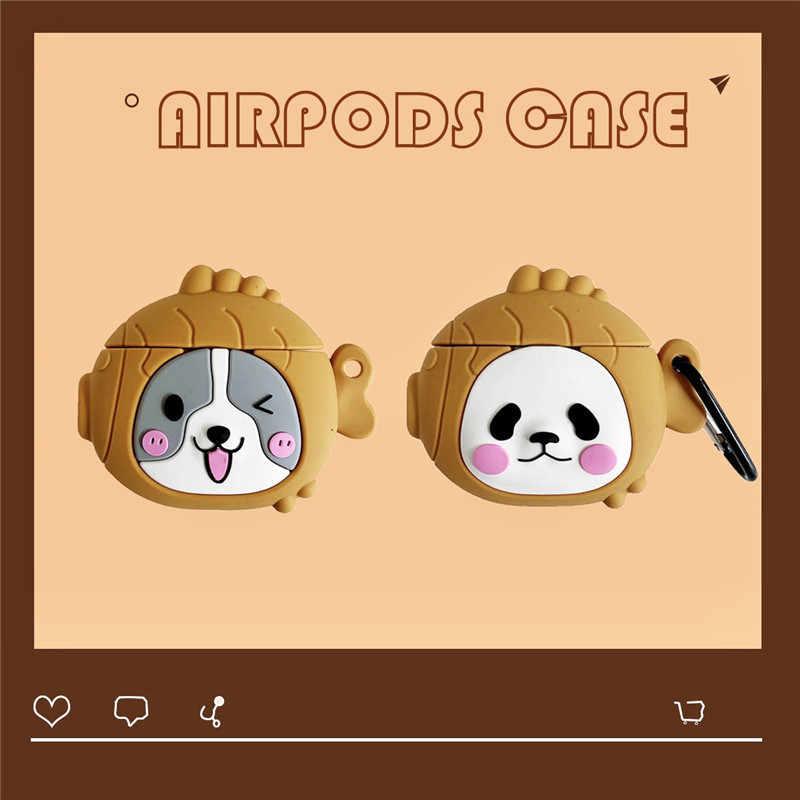 Per Caso Della Corea di AirPods ins carino 3D Bears Auricolare Custodie Per Apple Airpods Del Fumetto Coperchio di Protezione con Anello di Barretta Cinghia