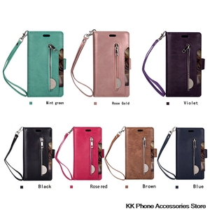 Image 5 - Rits Portemonnee Telefoon Geval Voor Samsung Note 10 Plus 9 8 A70 A50 A60 A40 A20E A7 Flip Leather Case voor Samsung S10 S9 S8 Plus S10e